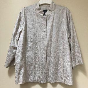 Eileen Fisher silk jacket L